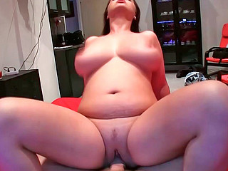 Sirale sucking stiff monster pecker and riding on it masterfully