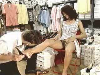 Retro - Trying on shoe