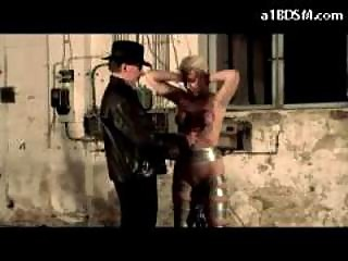 Blonde Serf Getting Her Tits Tortured With Buckets Spanked Whipped By Master