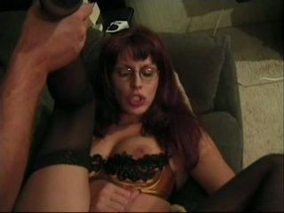 Underware tranny in glasses got fucked