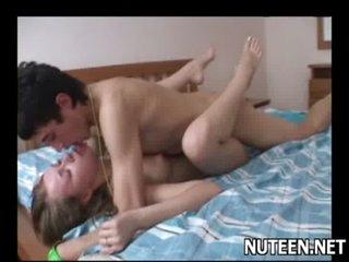 Sex appeal teen playgirl kneels