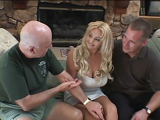 Blond in heat chases a big cock