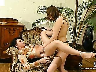 Esther&Irene aged lesbo movie scene