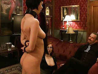 Bizarre fantasy of girl bound and double