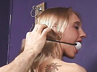 Doxy gagged and terrified
