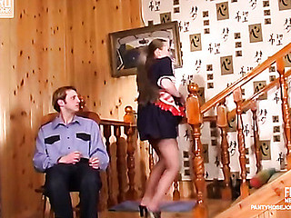 Nellie&Cyrus kinky hose job movie