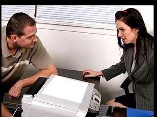 Blue eyed anilos chick rayveness sucks and bonks the office assist