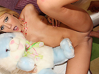 Cute Riley Ray gets her virginal Cum-hole Fucked!