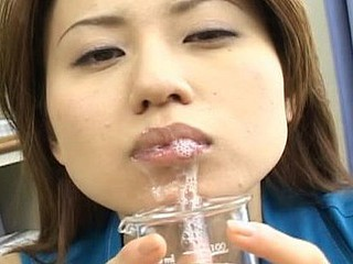 Ryoko acquires drilled by fellows during the time that others take turns unloading cum on her face.