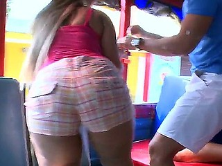 Crazy act in the bus with busty, lascivious and very hawt baby Alejandra