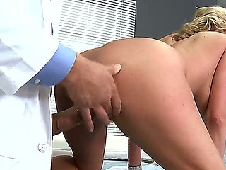 Doctor Ramon is ready to make a deep inspection of Zoey Holiday ass with his tool