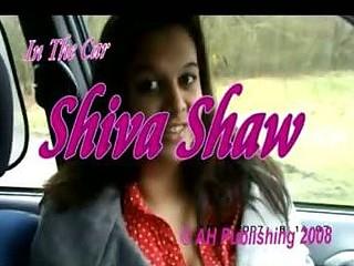 Breasty teen flashing her boobs in the car