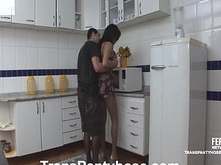 Marcela&Bela shemale pantyhosefucked on movie