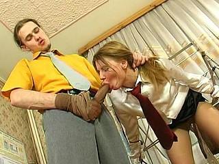Alice&Mike kinky hose job clip scene