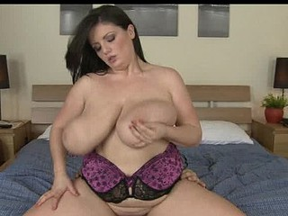 Arianna riding schlong as her big a-hole boobies bounce up and down!
