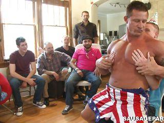 a wild homosexual bithday party