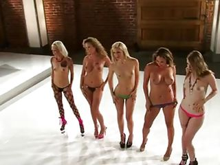horny babes stripping in groups
