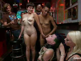 Proxy Paige is a blond milf lust for punishment. The cute girl with small round natural tits enjoys being tied up and getting anal fucked in a bar. Gorgeous Lorelei Lee and Mr. Pete are making sure she acquires what she deserves. The white guy bangs her mouth roughly as she moans with pleasure and pain.