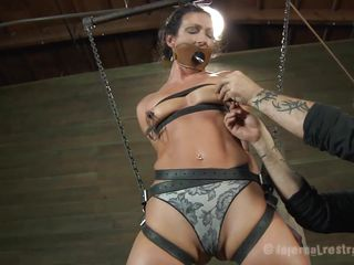 hanged and tied slut