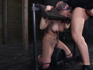 sex slave chocked with cock