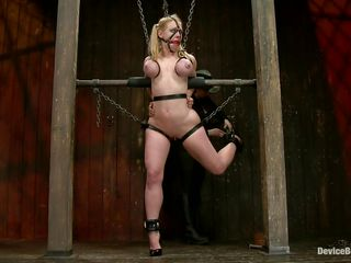 hot blonde darling in chains