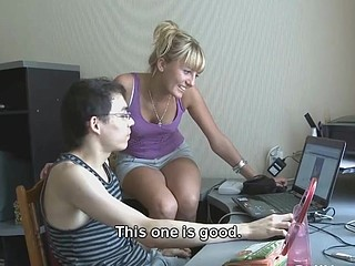 This youthful slut wanted to fuck but her boyfriend's dong was still sore after a circumcision so this chap offered her to fuck some other dude with just one condition - this chab will be watching. Was it a spontaneous bizarre measure or this guy's been having this filthy dream for some time already? This Chab won't tell but that chap came right into his pants watching his girlfriend get fucked from behind by some random chap they picked up on the Internet.