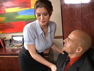 Wonderful secretary must engulf and fuck