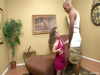 Midget Mini Mya gets a big darksome cock