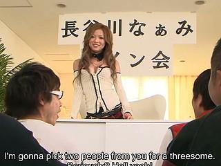 Japanese hottie Naami Hasegawa group fucked