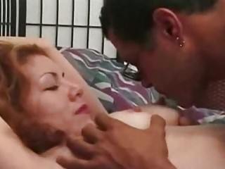 Hot bedroom fuck with a redhead sweetheart