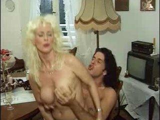 German Kinky Mature Woman In Stockings Fucks Her Youthful Lover
