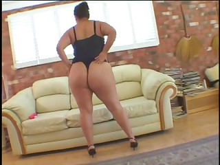 Fat lesbians fucks with sex toy