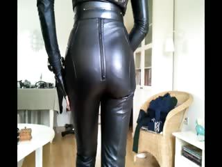 Sissy sexy leather cutie 1