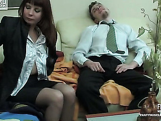 Alice&Mike perverted pantyhose movie