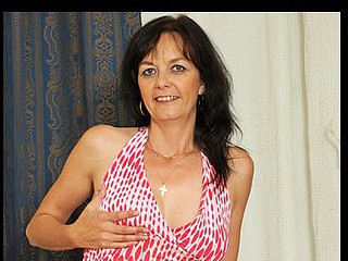 Dark haired mother i'd like to fuck massages her titties and copulates a rabbit vibe