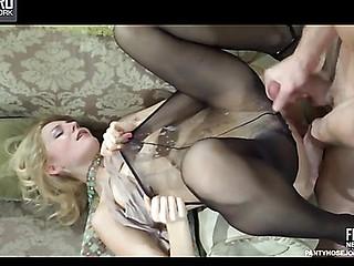 Judith&Douglas kinky pantyhose fuck scene