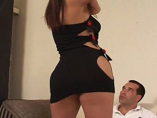 Sultry brunette blows him, receives licked and then receives drilled