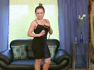 Horny Asian milf punishes her pussy