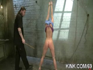 Pretty hot chick gets punished and screwed in bondage