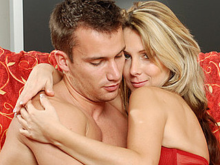 Experienced cougar janine swallows a jock with her eager face hole