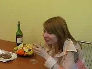 Drunk and fingering her fur pie