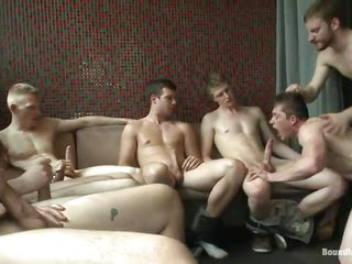 a couch full with horny gays needs a satisfaction