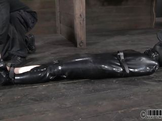 suffocated and electrocuted in a rubber dress