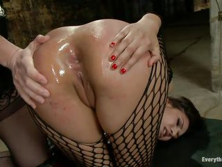 Bobbi Starr is super-hot lady who is fucking the hell out of this Hispanic slut Eva Fenix. This babe is tearing her big a-hole with a long anal toy and shoving it in & out from behind while Eva's lying down like a bitch. And after an a-hole to mouth, Eva changes position, spread legs and acquire her a-hole filled again!