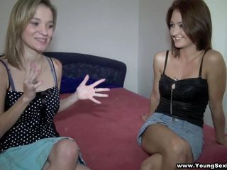 blonde mika and dark brown angella ready for 4-way action!