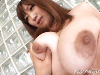 Her japanese huge breasts are asking for our full attention and she won't take less then that. I mean look at her jugs, they are perfect for groping and squeezing not to talk about fucking. As I make my ways with her breasts my dick begins to go bigger and harder, should i stick it between them?