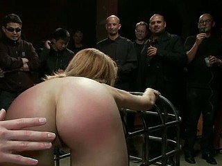 BDSM anal gangbang and painful spanking