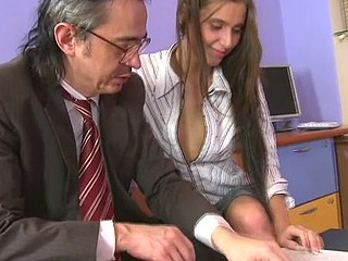 Lustful teacher is pounding sweet chick senseless