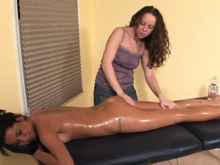 Lesbo Oil Massage - With a Oops (Fart Slip) - Cireman