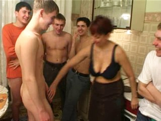 Birthday boy fucks his friend&amp,#039,s mamma with fellows